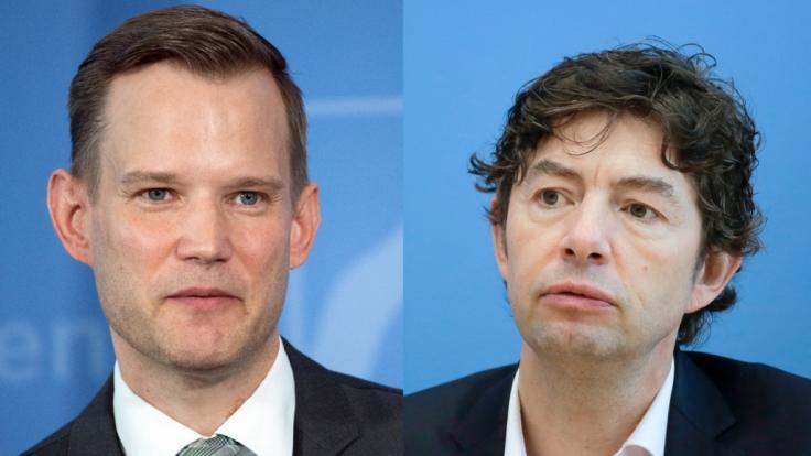 Die Virologen Hendrik Streeck (links) und Christian Drosten.