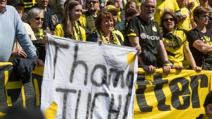 Die BVB-Fans scheinen hinter Tuchel zu stehen.