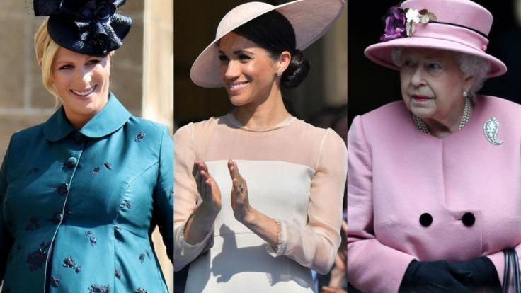 Zara Tindall, Meghan Markle und Queen Elizabeth II. bescherten Adelsfans in dieser Woche Royals-News am laufenden Band. (Foto)