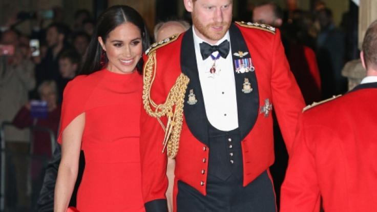 Meghan, Herzogin von Sussex, und Prinz Harry, Herzog von Sussex, treffen zum