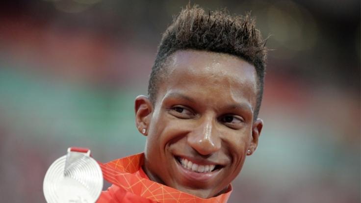 Bei der Leichathletik-WM 2015 in Peking holte Raphael Holzdeppe die Silbermedaille.