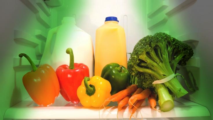 Die Erleuchtung für das Gemüse: Länger frisch mit LED-Licht. (Foto)
