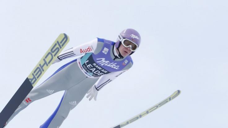 Bei Ski-Alpin-Weltcup in Oslo ging 2017 auch Andreas Wellinger für das deutsche Team an den Start.