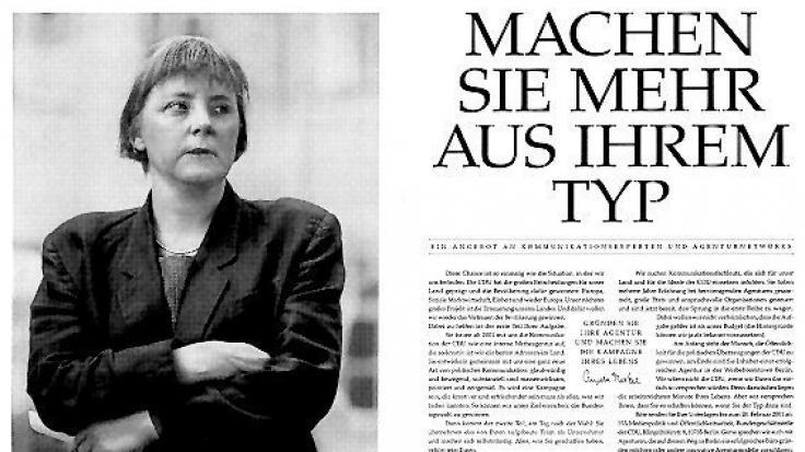 Sogar die CDU erlaubte sich Scherze auf Kosten der Stilikone. Hier ein Stellengesuch für Werbefachleute.