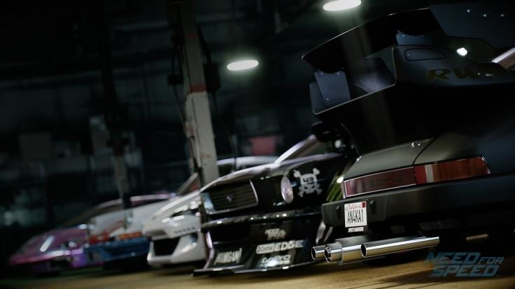 """Die Garage fungiert in """"Need for Speed"""" als Hauptquartier, Werkstatt und Umschlagplatz für neue Wagen. (Foto)"""