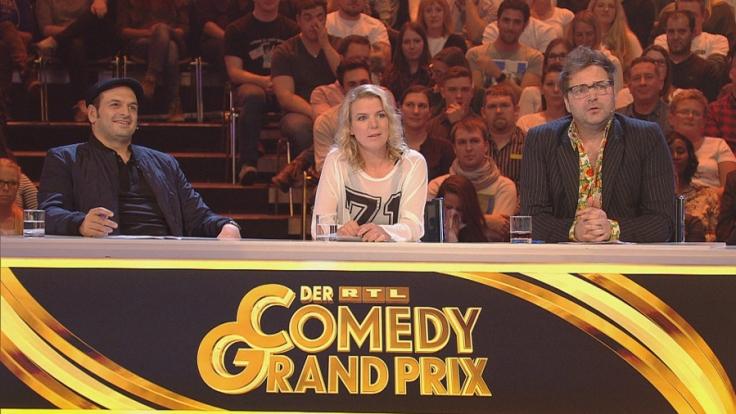 Mirja Boes, Kaya Yanar und Paul Panzer in der Jury des RTL Comedy Grand Prix.