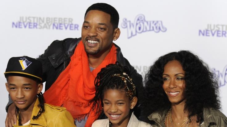 Familie Smith auf einer Filmpremiere im Februar 2011. (Foto)