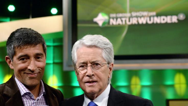 Die Moderatoren Ranga Yogeshwar (l) und Frank Elstner werden erneut das Wissen ihres TV-Publikums testen. (Foto)