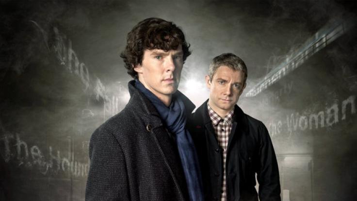 """Wie man sie kennt: Ganz so werden Holmes (Benedict Cumberbatch) und Watson (Martin Freeman) im """"Sherlock""""-Spezial nicht in Erscheinung treten. Zeit für Zylinder! (Foto)"""