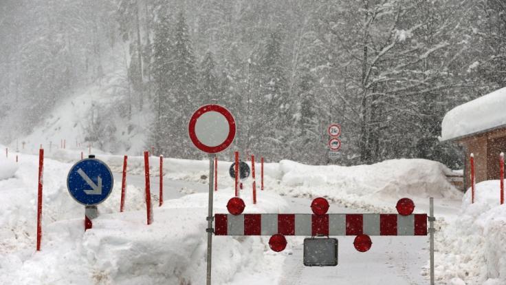 Süddeutschland droht Schnee-Katastrophe. (Foto)