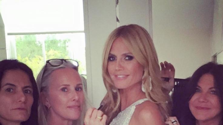 Heidi Klum - freizügige Einblicke auf Elton Johns Oscar-Party.