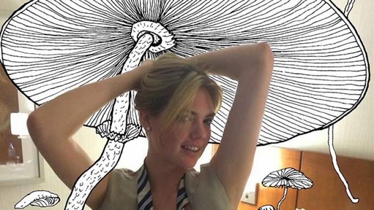 Kate Upton zeigt uns nun ihre, ähem, Pilze.