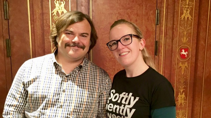 News.de-Redakteurin Susett Queisert traf Jack Black zum Interview in Berlin. (Foto)
