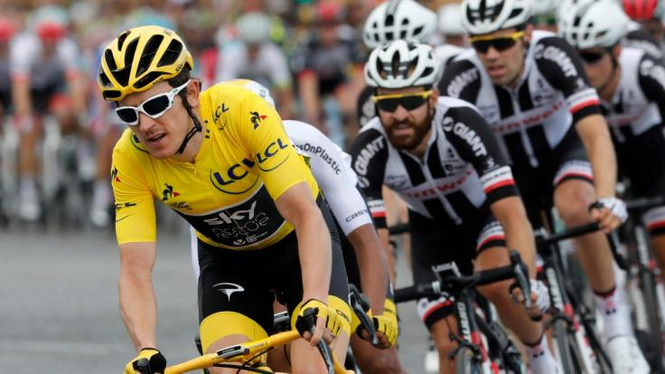 Der Brite Geraint Thomas holte sich den Gesamtsieg der 105. Tour de France.