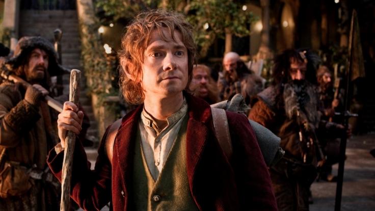 Zunächst eher unfreiwillig, hat sich Hobbit Bilbo (Martin Freeman) mit den Zwergen auf den langen Weg zurück in deren Heimat, Erebor, gemacht. (Foto)
