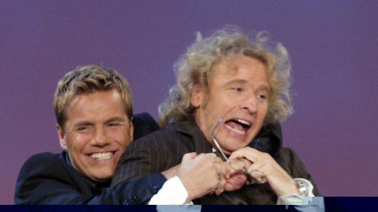 Der Musikproduzent und Musiker Dieter Bohlen und Moderator Thomas Gottschalk haben es zur Zeit nicht leicht. (Foto)