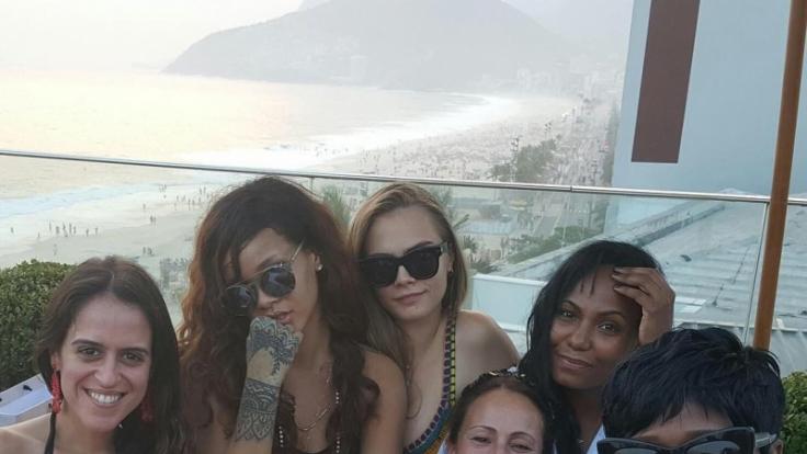 Das Model und die Sängerin: Cara und Rihanna finden sich ziemlich cool.
