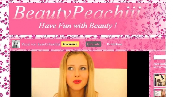 BeautyPeachiii erklärt jeden Sonntag auf Youtube, wie Topmodels von morgen sich schminken. (Foto)