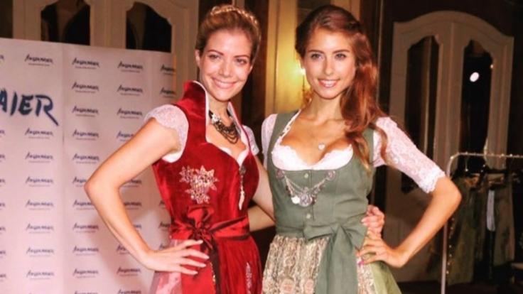 Münchner Kindl: Cathy (27) mit ihrer kleinen Schwester Vanessa Fischer (25).