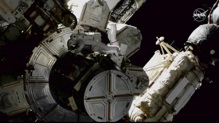 Alien-Fans wollen ein UFO in der Nähe der ISS gesehen haben. (Foto)
