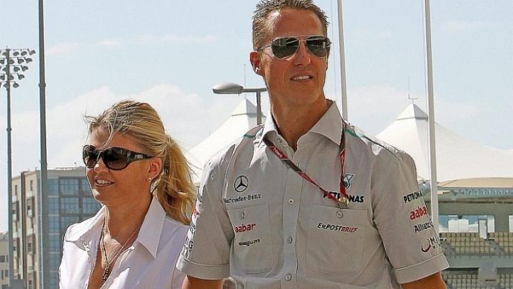 Corinna und Michael Schumacher 2011 in glücklichen Tagen.