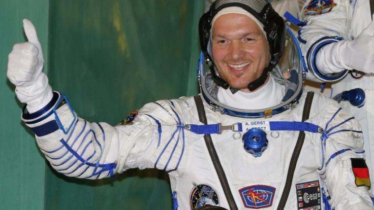 Alexander Gerst 2014 vor dem Flug zur ISS: Am 6. Juni 2018 startet der deutsche Astronaut zum zweiten Mal ins All. (Foto)