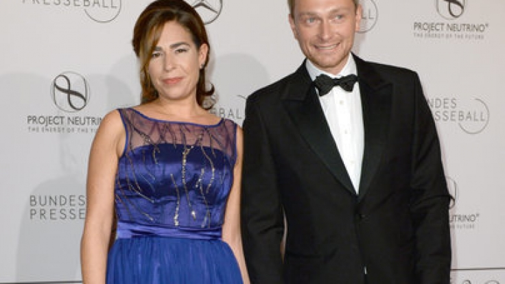 Der FDP-Vorsitzende Christian Lindner und seine Frau Dagmar Rosenfeld 2014.
