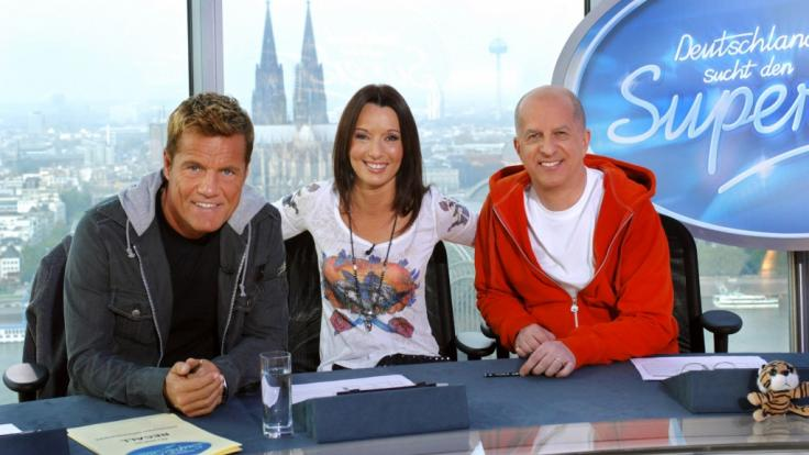 Dieter Bohlen, Anja Lukaseder und Heinz Henn 2006 bei einem Casting in Köln. (Foto)