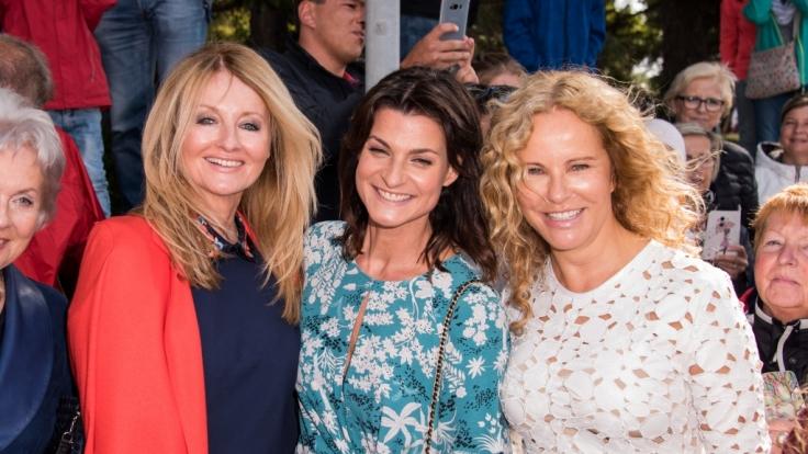 Marlene Lufen (Mitte), hier mit ihren Kolleginnen Frauke Ludowig (li.) und Katja Burkart (re.), hat sich bei Instagram einer erstaunlichen Verwandlung unterzogen. (Foto)