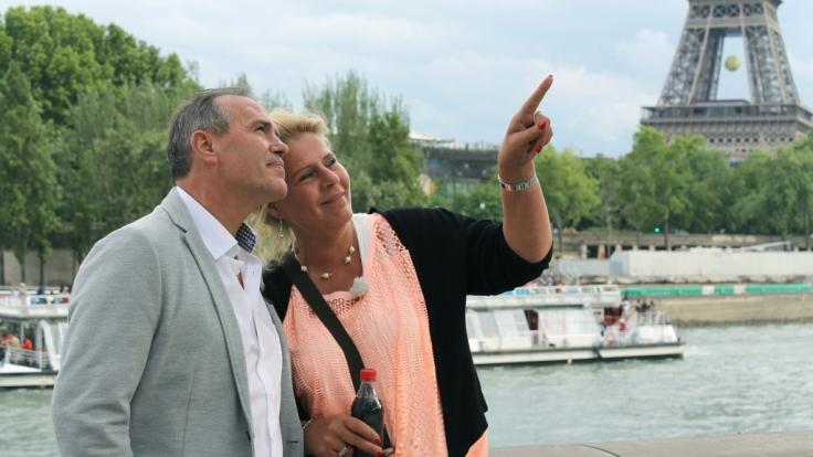 Erlebten eine traumhafte Zeit in Paris - bis er ihr einen Heiratsantrag machte: Silvia Wollny (rechts) und ihr Harald. (Foto)
