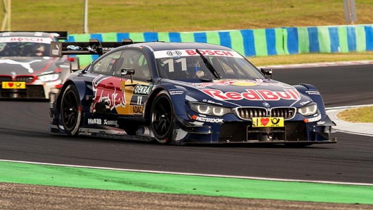 Marco Wittmann flitzte 2016 in der DTM auf dem Hungaroring über die Rennstrecke.