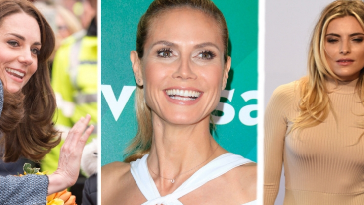 Heidi Klum (m.), Sophia Thomalla (r.) und Herzogin Kate zählten zu den Promis der Woche.