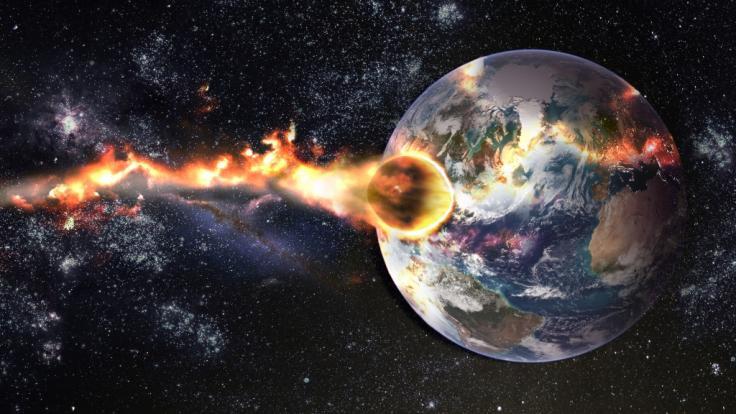 Ein Asteroid schrammte knapp an der Erde vorbei. (Foto)