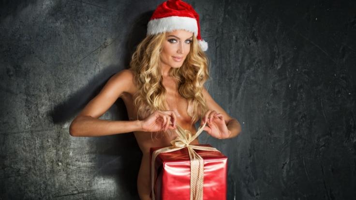 Weihnachtliche Brüste erobern Instagram. (Foto)