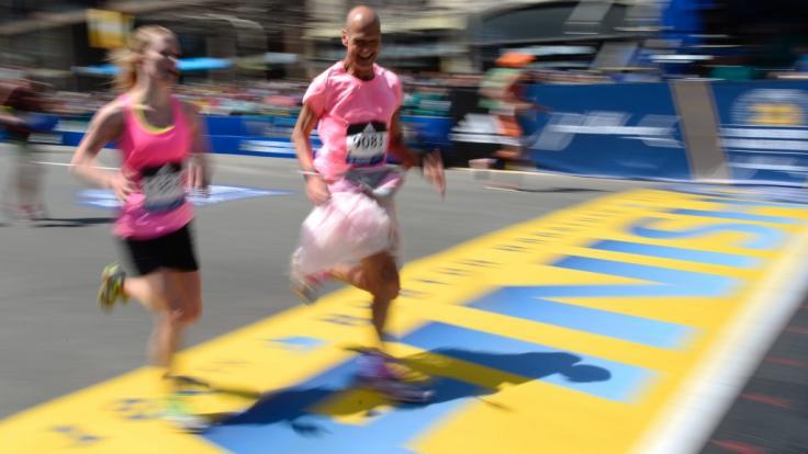 30.000 Läufer werden beim Boston-Marathon starten. (Foto)