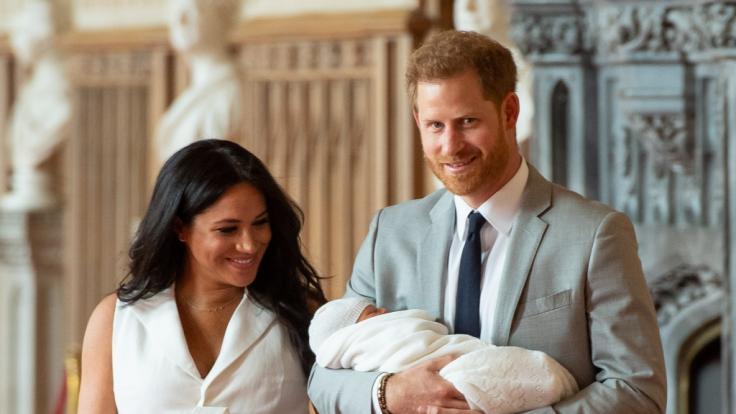 Meghan Markle, Prinz Harry und Baby Archie. (Foto)