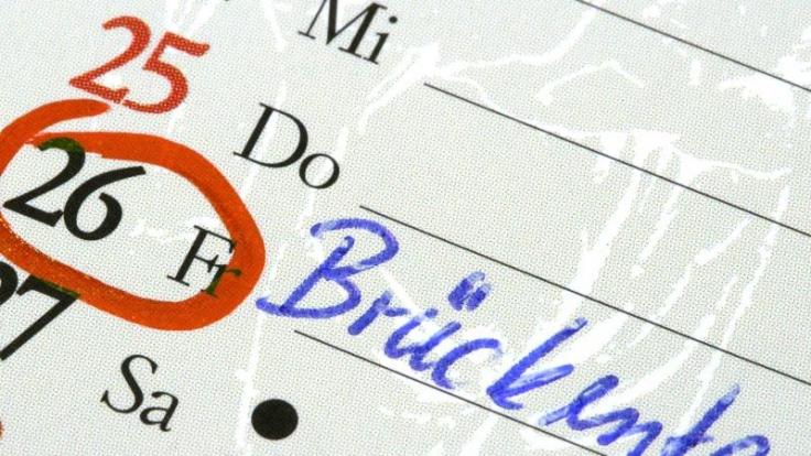 Brückentage 2015: Kluge Planung zahlt sich bei Urlaub aus (Foto)