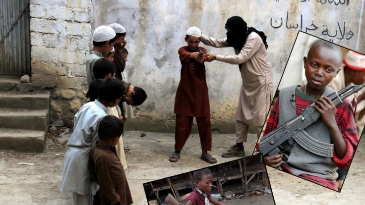 Weltweit werden hunderttausende Kinder zum Töten gezwungen.
