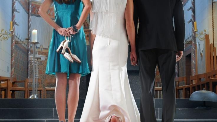 Mit schmerzhafter Blase zum Altar? Bei einer guten Planung wäre das nicht passiert.  (Foto)