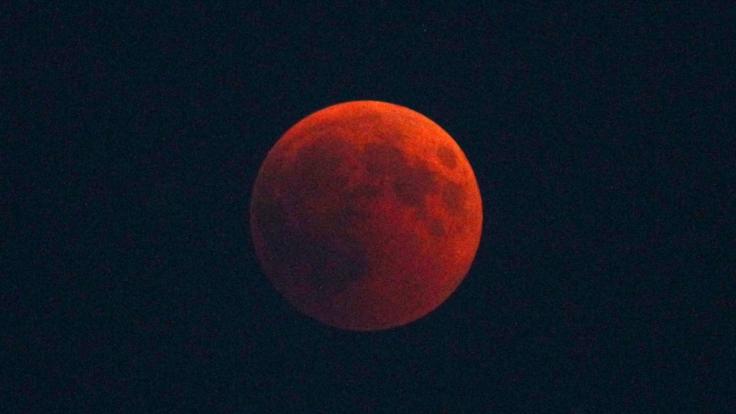 Der Blutmond im Januar 2019 verheißt Verschwörungstheoretikern zufolge die nahende Apokalypse (Symbolbild).