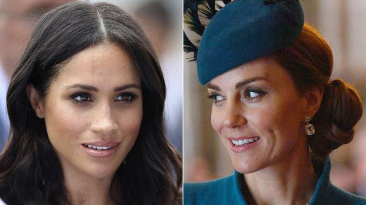 Meghan Markle und Kate Middleton. (Foto)