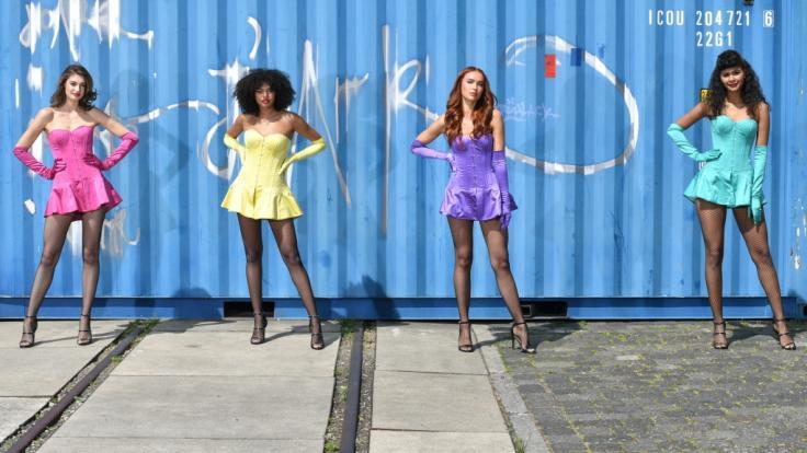 """Am 21. Mai steigt das """"Germany's Next Topmodel""""-Finale. Die vier GNTM-Finalistinnen Sarah, Maureen, Jacky und Lijana (v. l.) im Kandidatinnencheck. (Foto)"""