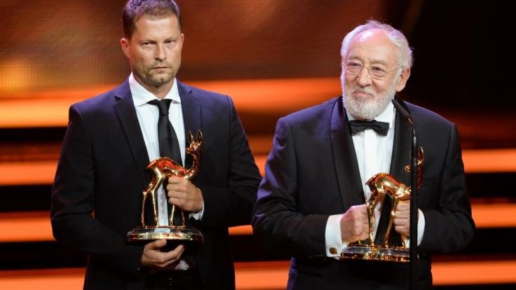 Til Schweiger (l) und Dieter Hallervorden bei einer Preisverleihung (Foto)