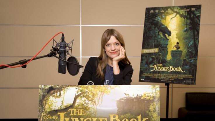 """Schauspielerin Heike Makatsch im Synchronstudio für die Aufnahmen zu Disneys """"The Jungle Book"""". (Foto)"""