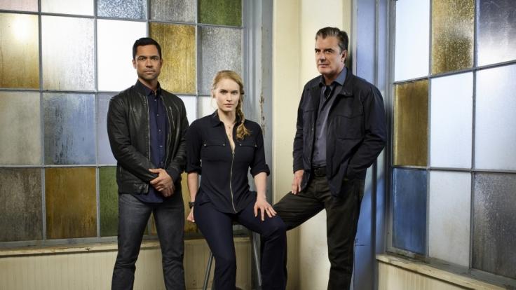 Bishop (Danny Pino), Kick Lanigan (Leven Rambin) und Frank (Chris Noth) sind auf die Aufklärung von Entführungen spezialisiert. (Foto)