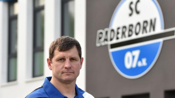 Der Trainer von SC Paderborn 07, Steffen Baumgart, setzt sich so langsam mit seiner Mannschaft an der Tabellenspitze von der Konkurrenz ab. (Foto)