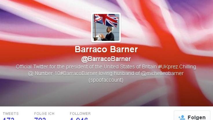 Barraco Barner hat mittlerweile auch einen eigenen Twitter-Account.