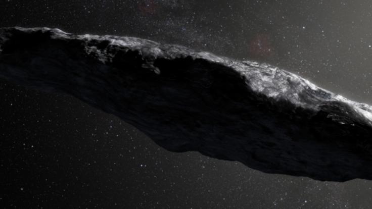 Die Diskussionen um den Weltraum-Brocken Oumuamua halten immer noch an. (Foto)