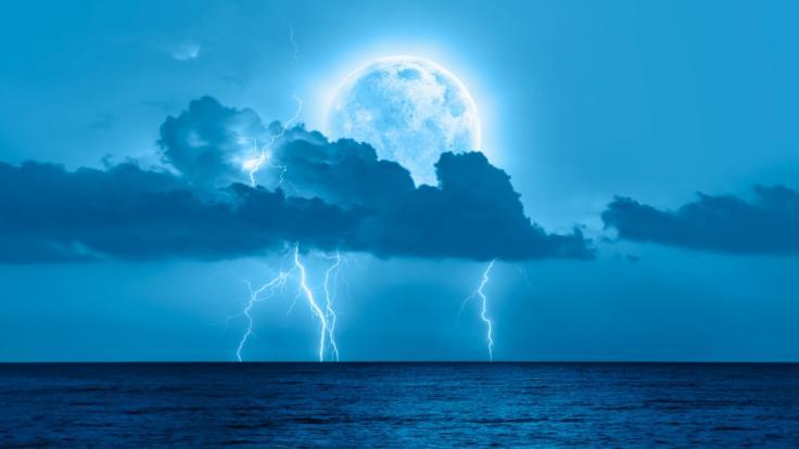 Prophezeit der Vollmond im Juli etwa Unwetter? (Foto)