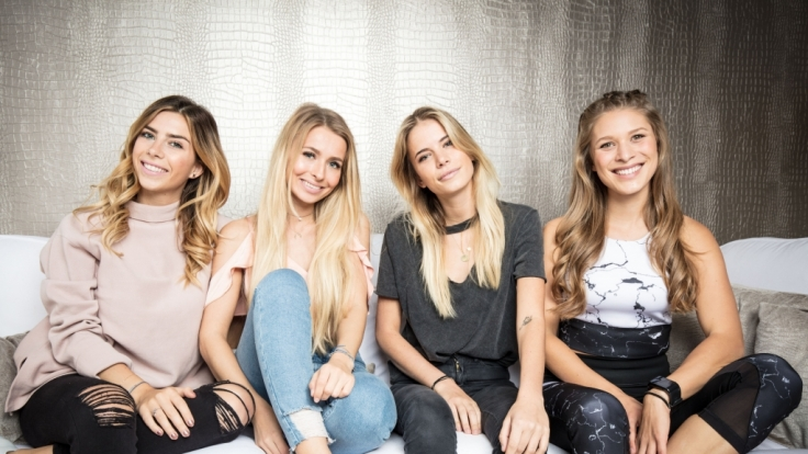 """Die Bloggerinnen Luisa, Sophia, Filiz und Roxi (von links) in der RTL2 You-Serie """"Mjunik"""". (Foto)"""